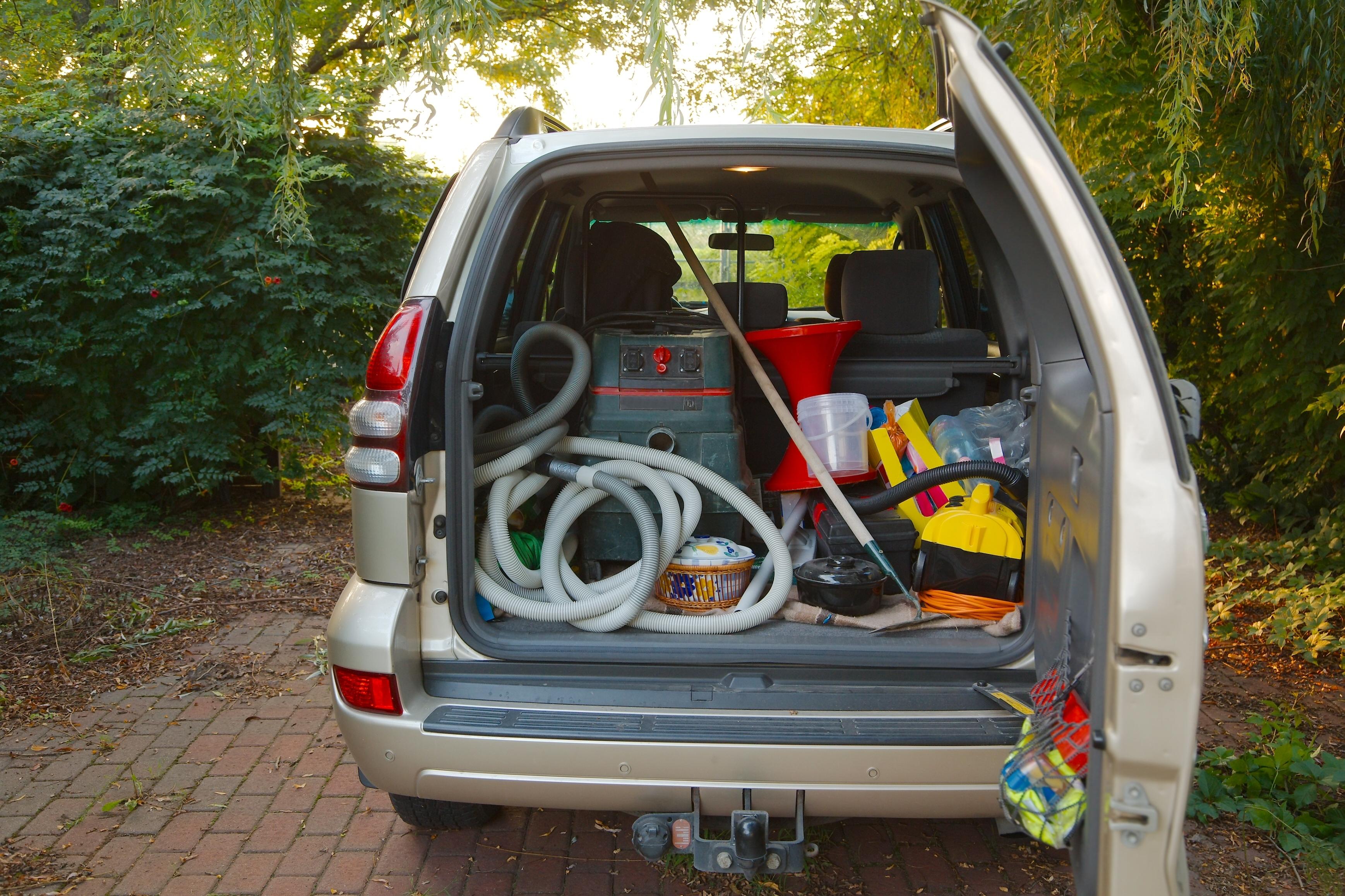 Car transport - Trunk full